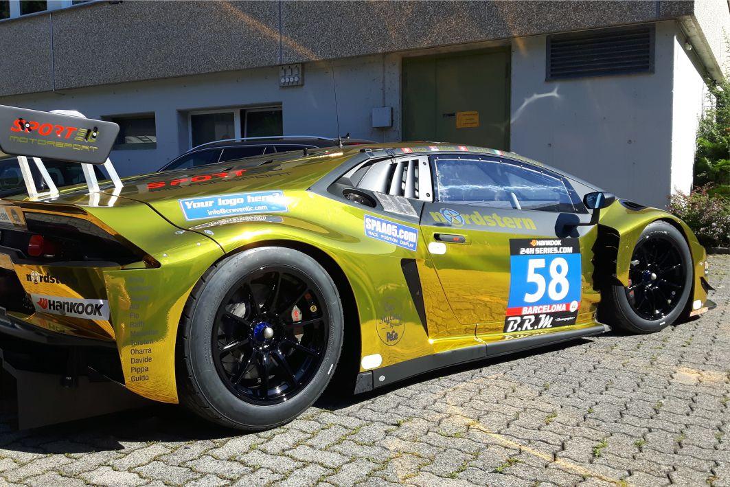 Lamborghini Huracan Folierung Hexis Chrom Folie Gold