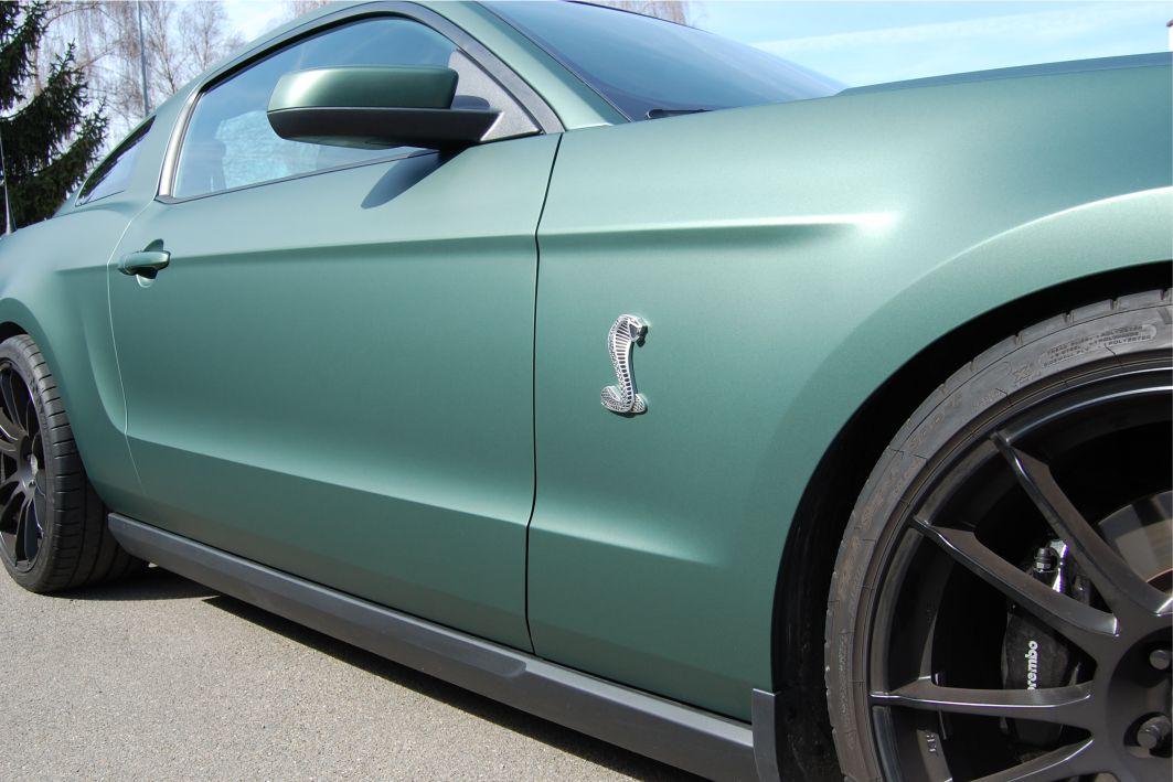 Ford Mustang GT 500 Folierung 3M M206 Pine Green Metallic