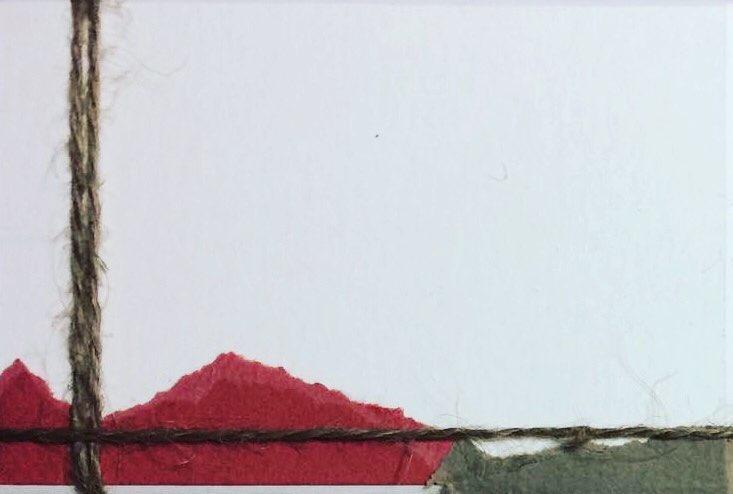 """Menorca N. 11""   Collage on carton board   8 x 12 cm   2017"
