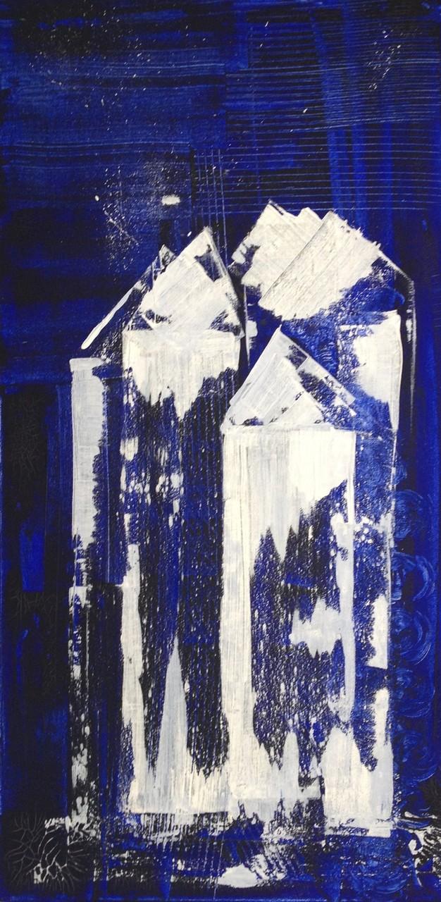 Eiskristall  58x58cm Acryl