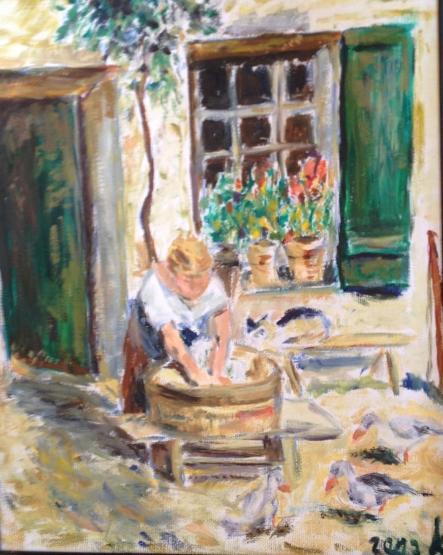 Waschfrau  Oel              verkauft