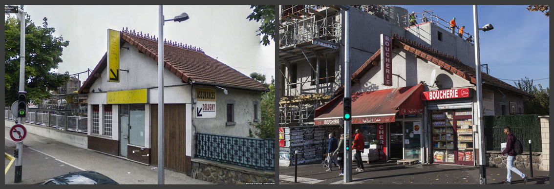 Une petite maison faisait office de cabinet d'assurance. A sa gauche un vendeur de matériaux de construction. Maintenant, une boucherie Halal et un immeuble de plusieurs étages en construction.