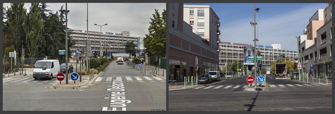 Les espaces verts qui se trouvaient autour de l'immeuble « Le Galion » dans le quartier des 3.000 à Aulnay-sous-Bois ont laissé place à des immeubles de plusieurs étages.
