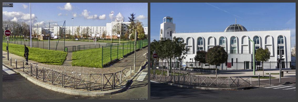 Á Aulnay-sous-bois dans cet espace ou l'urbanisation est très dense et les espaces de respiration pour les jeunes limités, le terrain de sport a été remplacé par une mosquée. Ce n'est pas la mosquée qui pose problème, mais le choix du lieu par la Mairie.