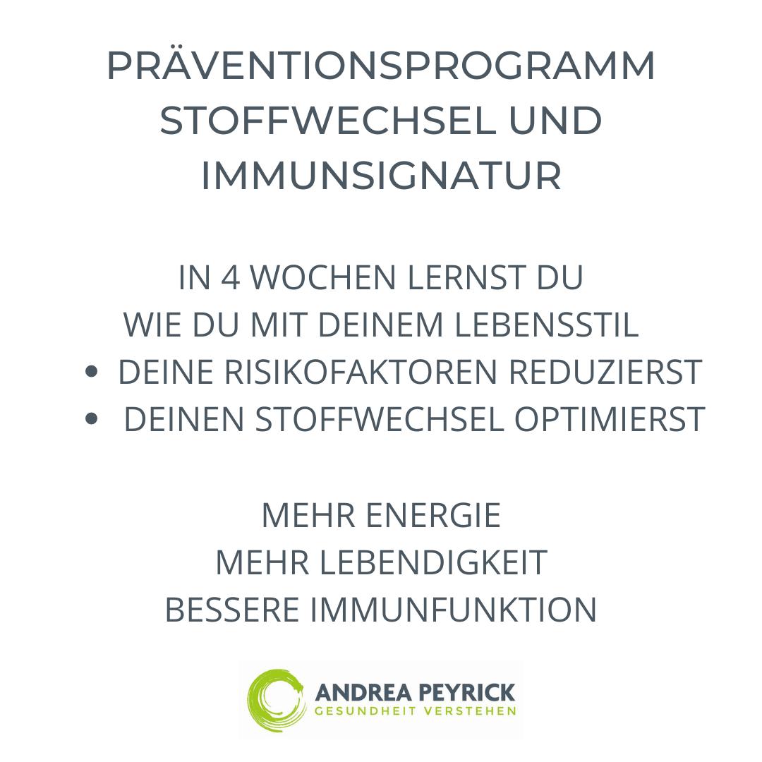 Präventiosprogramm Stoffwechsel und Immunsignatur