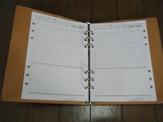 スライド手帳リフィルの写真