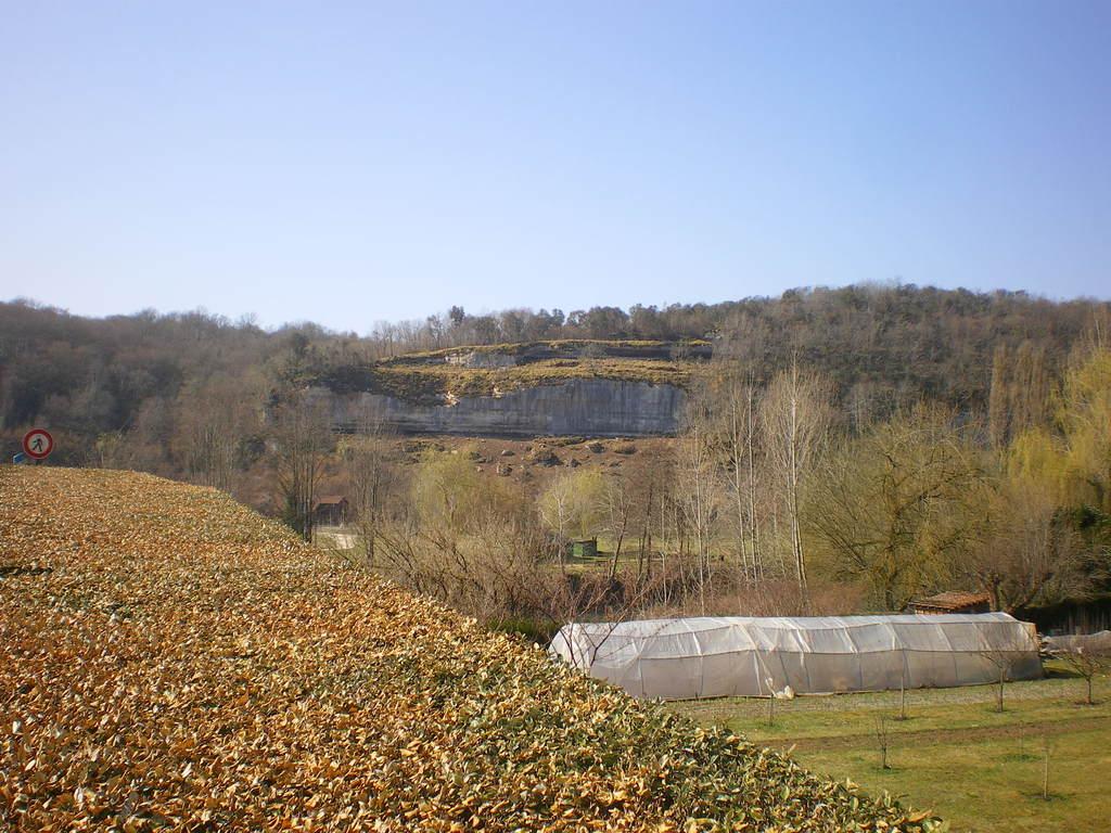 fin des travaux - le site vu avant de passer le pont en direction de Périgueux