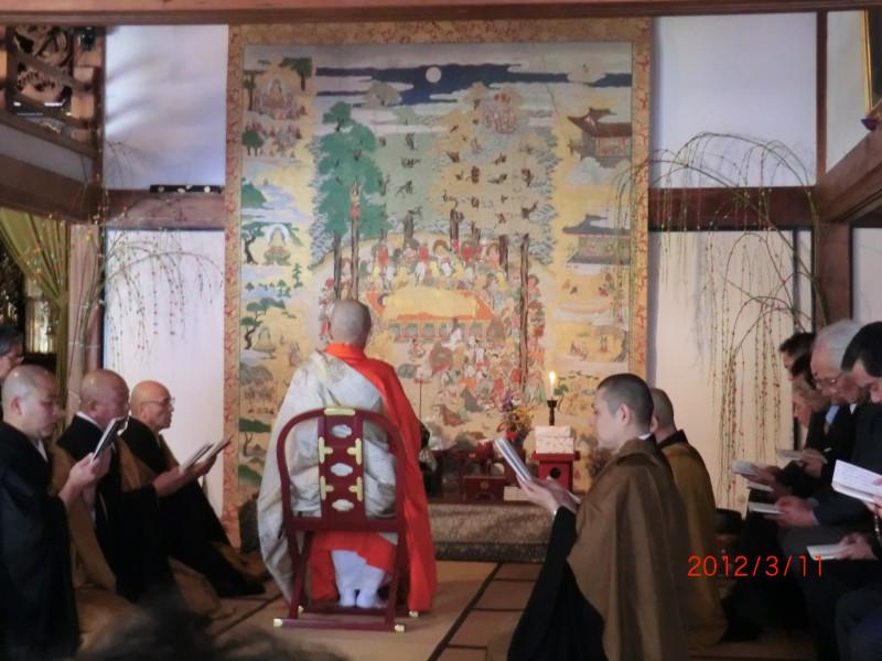 乾坤院の「涅槃会」(3月開催)