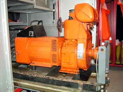 Stromerzeuger Typ: G132 | Leistung: 8 KVA, Anschlüsse 380 V: 1, Anschlüsse 230 V: 3, Einsatzgebiet: Stromerzeugung für Beleuchtungsmittel, Unterwasserpumpen, Elektrowerkzeuge, etc.