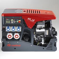 Stromerzeuger Typ: Rosenbauer RS 14 | Leistung: 13,6 KVA, Anschlüsse 380 V: 2, Anschlüsse 230 V: 3, Einsatzgebiet: Stromerzeugung für Beleuchtungsmittel, Unterwasserpumpen, Elektrowerkzeuge, etc., Standort: TLF 1000