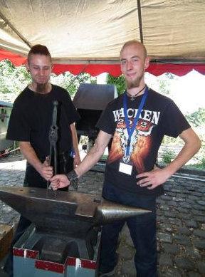 und den 4. Platz machte Phillip Richter (auf diesem Bild mit Andreas Wolff, links)