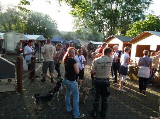 Überblick: auf der Stolberger Burg finden die Treffen alle zwei Jahre statt