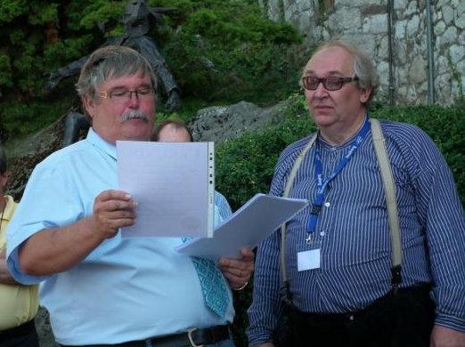IFGS-Präsident Cees Pronk mit dem Stolberger Bürgermeister Ferdi Gatzweiler (l.)