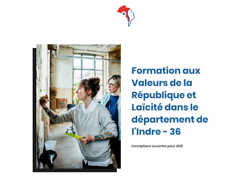 """Dernières places à Issoudun pour la formation gratuite """"Valeurs de la République et Laïcité"""""""