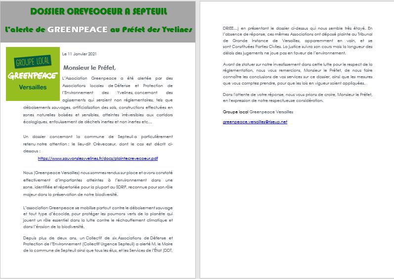 GREENPEACE soutien les actions de SLT