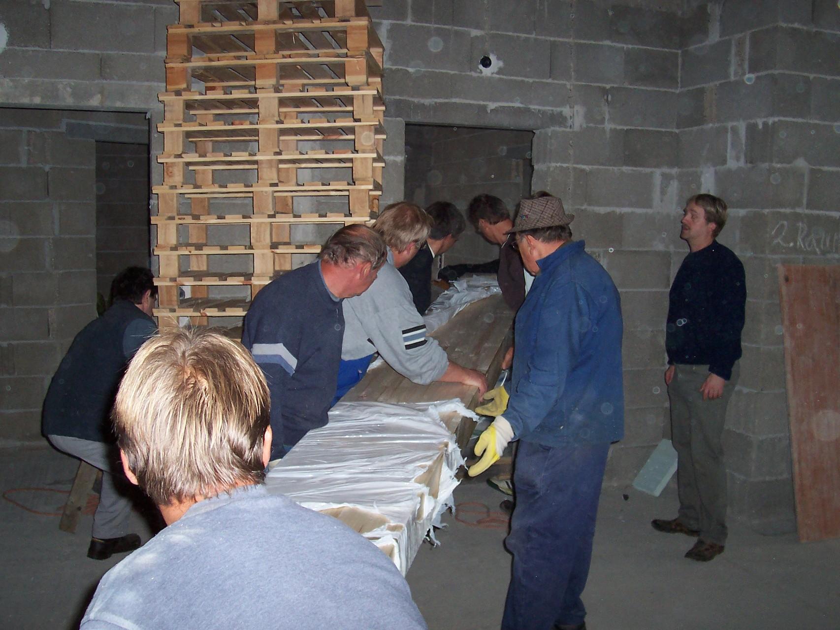 Oktober 2006, der Mittelbalken wird eingezogen