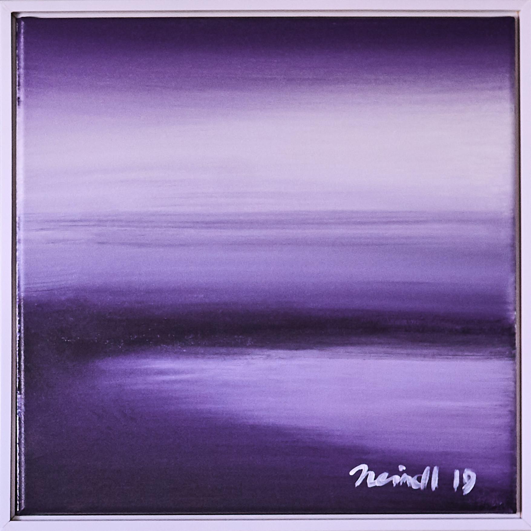 ›Purple Sky‹, Acryl auf Leinwand, 43 x 43 cm, 2019