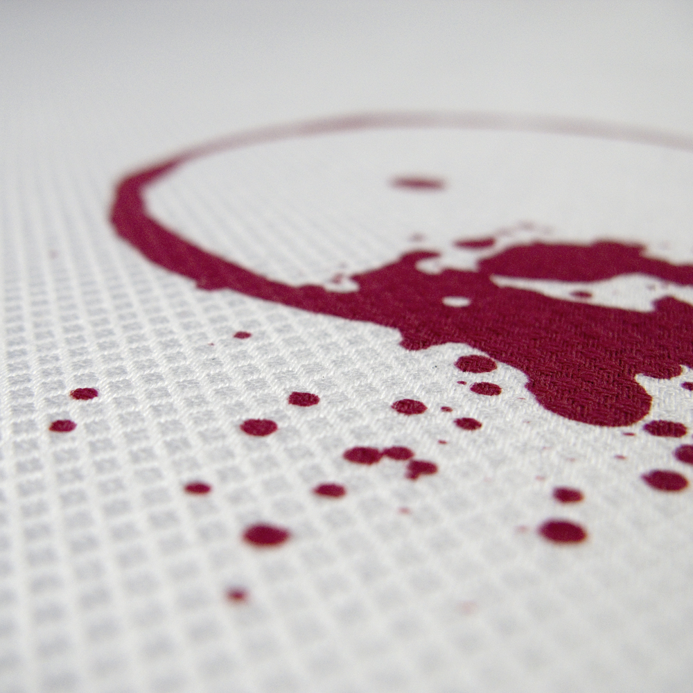 SUSTAINED tablecloth with embroidered stain