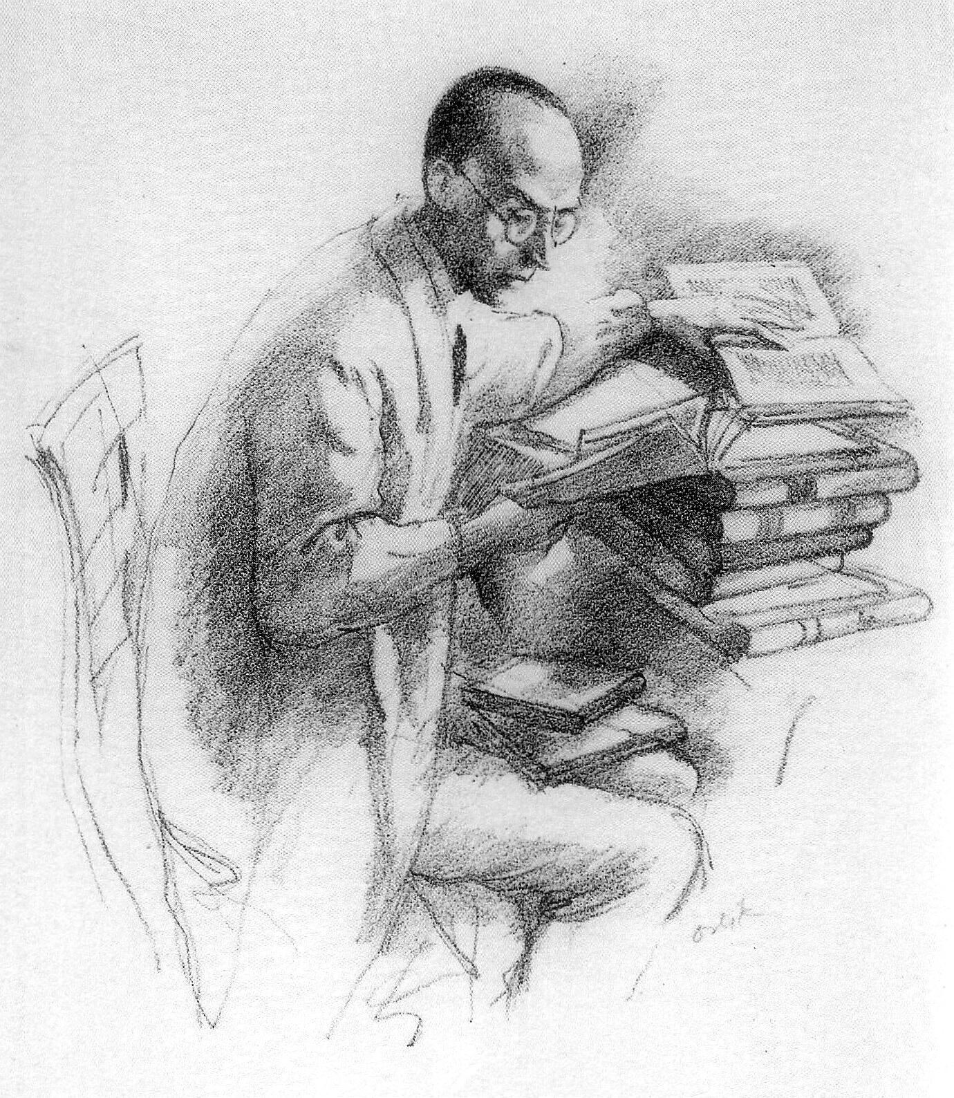 Alfred Henschke alias Klabund (Zeichnung Emil Orlik)