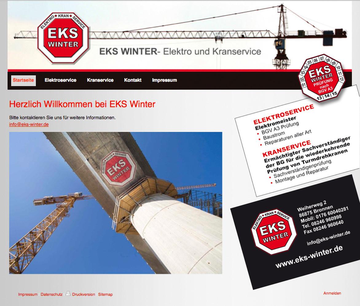 EKS: Logo, Aufkleber, Autobeschriftung,Website, etc.