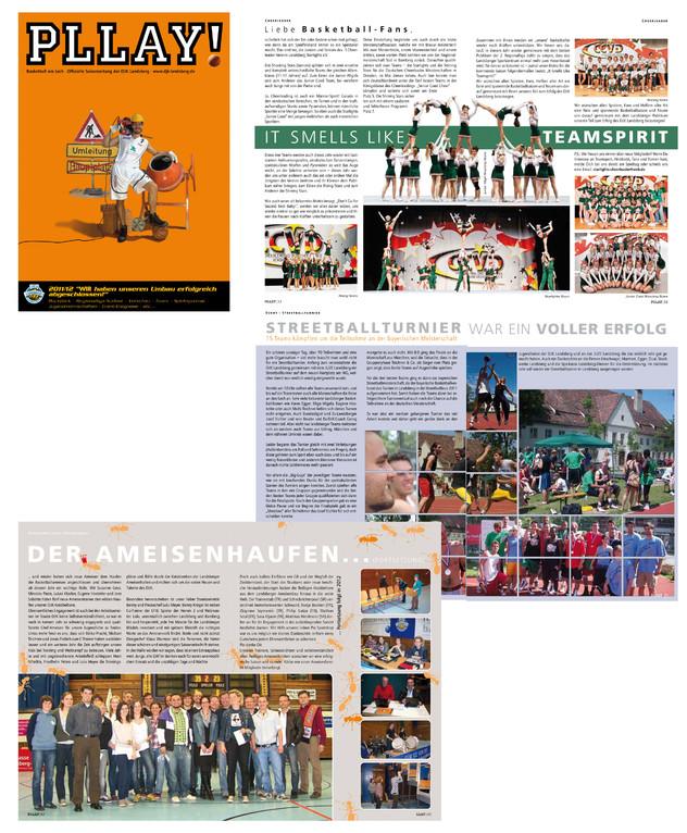 Pllay, Landsberger Basketballzeitung, Erstellung einiger Seiten