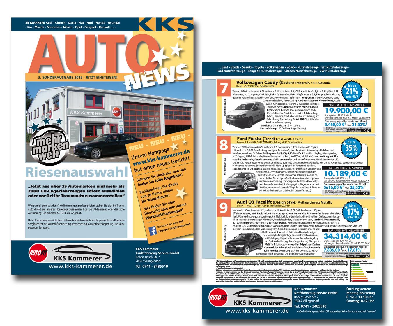 AutoNews, Angebotsfolder